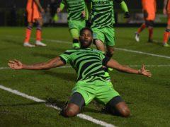 Jamille Matt celebrates his goal (Simon Galloway/PA)