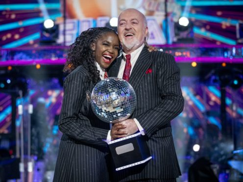 Bill Bailey and Oti Mabuse (Guy Levy/BBC)