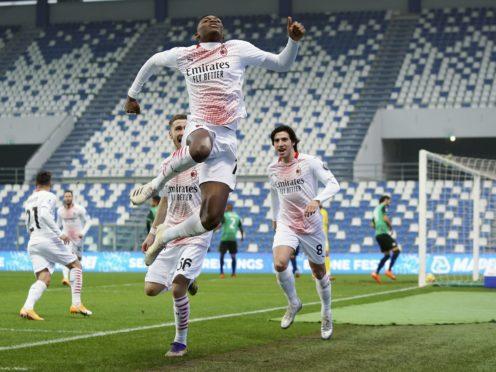 Rafael Leao scored after just six seconds for AC Milan (Spada/AP)