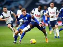 Serge Aurier conceded a penalty against Leicester (Julian Finney/PA)