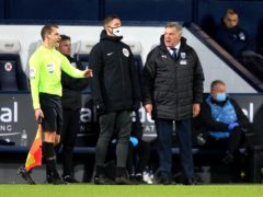 There was frustration for Sam Allardyce, right, in his first game as West Brom manager (Lindsey Parnaby/PA)