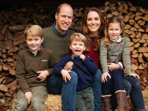 The Duke and Duchess of Cambridge and their children have been pictured at a public event with the Earl of Wessex and his family in an apparent breach of the Rule of Six (The Duke and Duchess of Cambridge/Kensington Palace/PA)