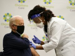 President-elect Joe Biden receives his first dose of the coronavirus vaccine (Carolyn Kaster/AP)