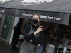 British butcher and owner of Wesley's Butcher Shop Julia Craig-McQuaide in Brussels (Virginia Mayo/AP)