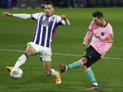 Lionel Messi broke Pele's scoring record in Barcelona's victory (Cesar Manso/Pool via AP)