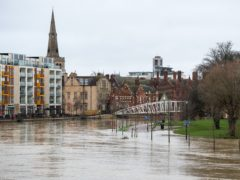 Flooding in Bedford where the River Great Ouse has burst its banks (Joe Giddens/PA)