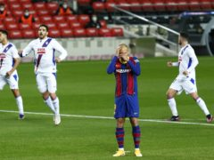 Barcelona were frustrated as they were held to a draw by Eibar (Joan Monfort/AP)