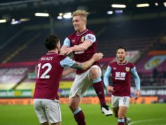 Ben Mee celebrates his goal (Alex Livesey/PA)