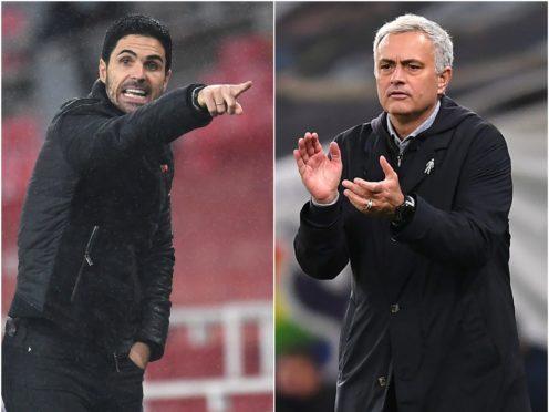Mikel Arteta/Jose Mourinho (PA)