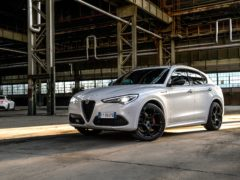 The Veloce Ti brings the dynamic look of the range-topping Quadrifoglio