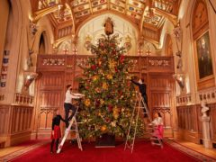 Christmas at Windsor Castle (Royal Collection/Her Majesty Queen Elizabeth II 2020/PA)