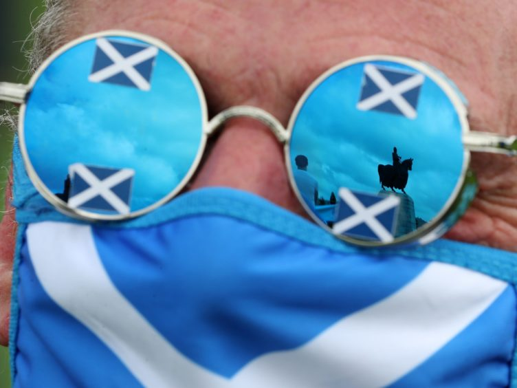 Support for independence and the SNP has dropped slightly from November, the latest Survation poll suggests (Andrew Milligan/PA)