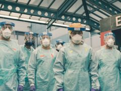 The Casualty team in full PPE (BBC/PA)