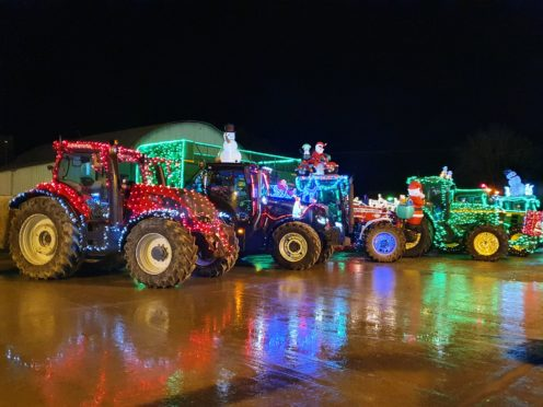 The 'Christmas Tractors of Nenagh' on show in Co Tipperary, Ireland (Catherine Collins/Embrace FARM)