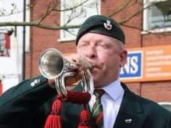 Ex-Army bugler Paul Goose is preparing for his final performance of the Last Post on New Year's Eve (JustGiving/PA)