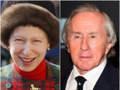 The Princess Royal and Sir Jackie Stewart (Barry Batchelor/Ian West/PA)