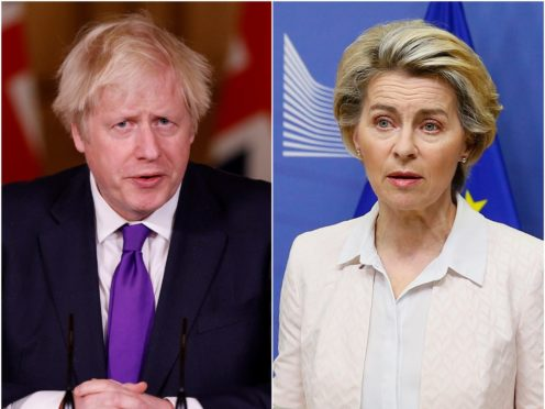 Boris Johnson and Ursula von der Leyen (PA/AP)
