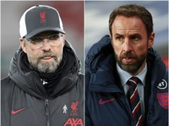 Liverpool manager Jurgen Klopp (left) has warned England boss Gareth Southgate the three-substitute rule will affect him in the summer (Peter Powell/Ian Walton/PA)