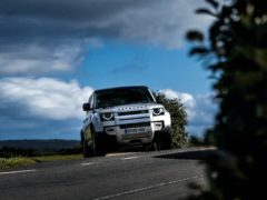 A high ride height gives the Defender plenty of capability