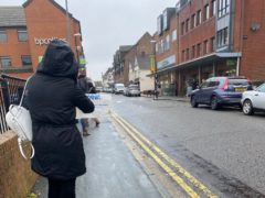 Ameera Patel said she had to queue for 40 minutes in the rain outside Waitrose in Gerrards Cross (@ameerachakra/Twitter)