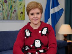 Nicola Sturgeon donned the festive garment for charity Save The Children's Christmas Jumper Day (Save the Children/PA)