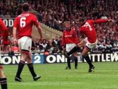 Eric Cantona struck the winner for Manchester United against Liverpool in the 1996 FA Cup final (Adam Butler/PA)