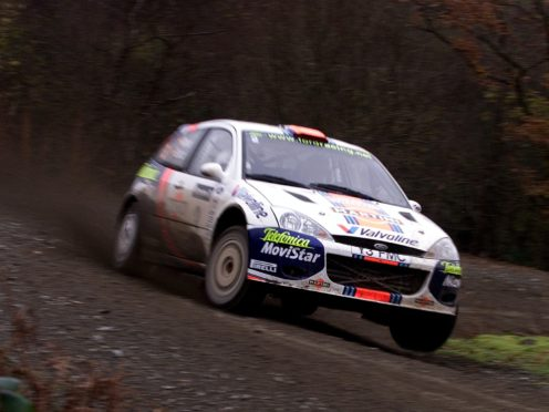 Carlos Sainz in his Ford Focus during the Halfway special stage.