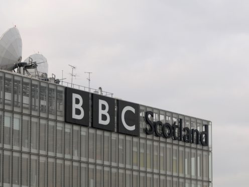 A fire has broke out on the roof of the BBC Scotland HQ in Glasgow (Julia Hoyle/PA)