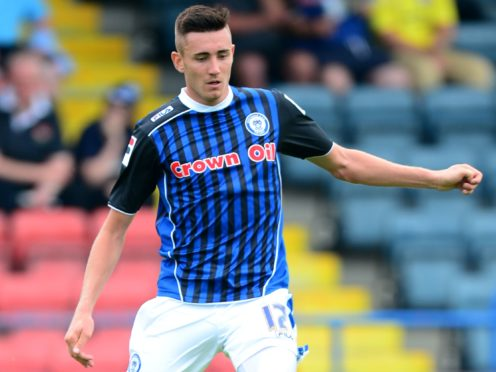 Matthew Lund scored twice in Rochdale's comeback (Martin Rickett/PA)