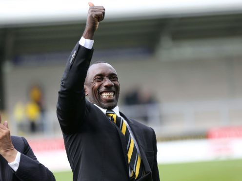 Jimmy Floyd Hasselbaink is back in charge at Burton (Barrington Coombs/PA)