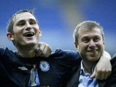 Frank Lampard, left, enjoyed great success as a player at Chelsea (Martin Rickett/PA)