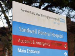 The sign outside Sandwell General Hospital (Joe Giddens/PA)