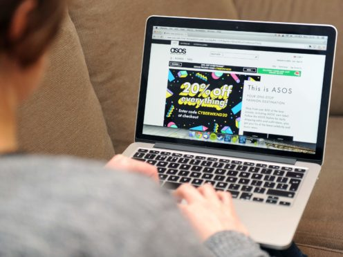 Online fashion retailer Asos is expecting a £40m profit boost from the pandemic (Tim Goode/PA)