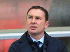 Derek Adams thought the first-half dismissal was key (Nigel French/PA)