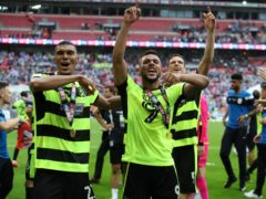 Collin Quaner (left) helped Huddersfield to play-off glory (Nick Potts/PA)