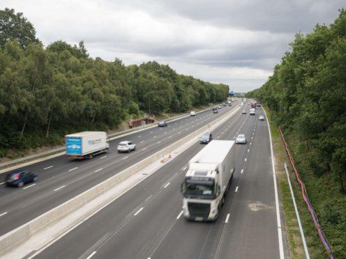 Vehicles on a smart motorway (Steve Parsons/PA)