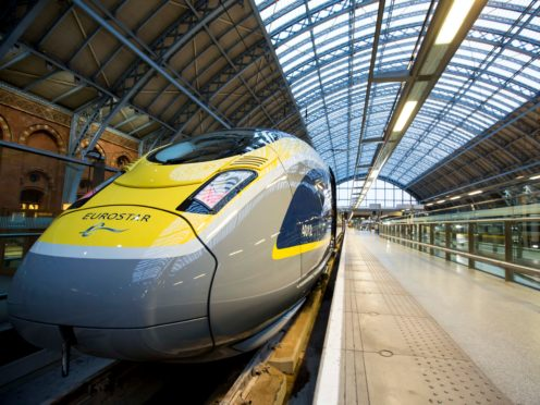 A group attempting to travel to Switzerland for a ski holiday were prevented from boarding a Eurostar train (Nathan Gallagher/Eurostar/PA)