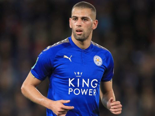 Leicester striker Islam Slimani has joined Ligue 1 club Lyon (Mike Egerton/PA)