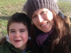 Alfie Dingley and his mother Hannah Deacon (Maggie Deacon/PA)