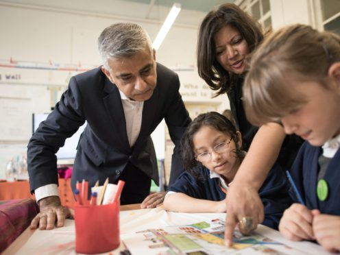 Mayor of London Sadiq Khan said ministers had agreed that all schools should stay shut after Christmas (Stefan Rousseau/PA)