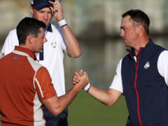 Rory McIlroy, left, has given his backing to Justin Thomas (Adam Davy/PA