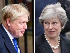 Prime Minister Boris Johnson faced criticism from his immediate predecessor Theresa May (PA)