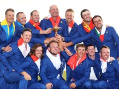 Sergio Garcia (top row, third from left) became the top points-scorer in the Ryder Cup in 2018 (David Davies/PA)
