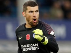 Brighton's Mat Ryan has joined Arsenal on loan until the end of the season. (Martin Rickett/PA)