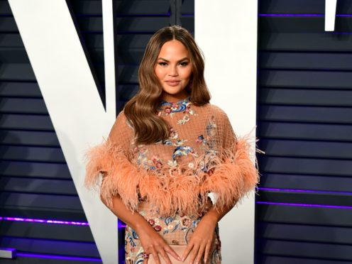 Chrissy Teigen could not hide her glee after Donald Trump was banned from Twitter (Ian West/PA)