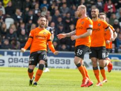 Nicky Clark (left) has extended his deal with Dundee United (Jeff Holmes/PA)