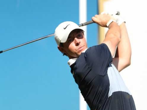 Rory McIlroy set the clubhouse target with an opening 64 in Abu Dhabi (Bradley Collyer/PA)