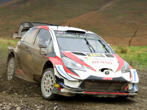 Estonia's Ott Tanak and Martin Jareoja in a Citroen C3 WRC during day three of the Wales Rally GB in 2019 (Bradley Collyer/PA)