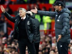 Ole Gunnar Solskjaer believes Jurgen Klopp (right) and other managers are attempting to influence referees (Martin Rickett/PA)
