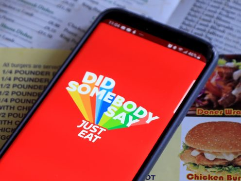 The owner of online food delivery giant Just Eat has said UK orders jumped 58% higher in the final three months of 2020 as the pandemic sent demand surging (Gareth Fuller/PA)